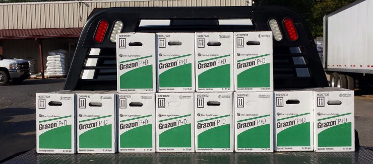Cherokee Feed & Seed carries a full line of professional herbicides, such as Grazon