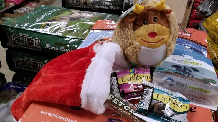 Christmas stockings for your pets at Cherokee Feed & Seed in Ball Ground, GA