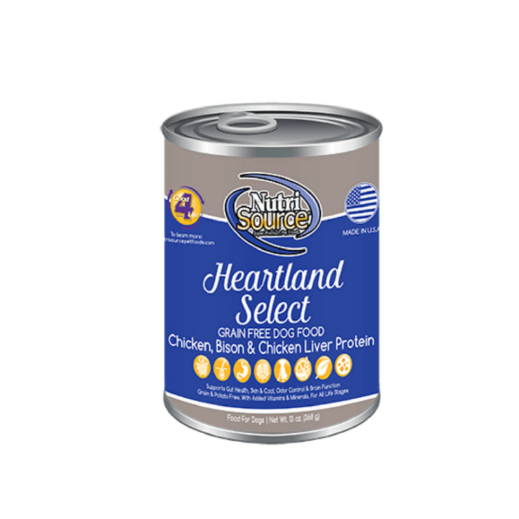 NutriSource Heartland Select Grain Free Canned Dog Food