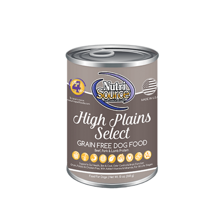 NutriSource High Plains Select Grain Free Canned Dog Food